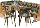 LIEFERUNG in die WOHNUNG - 5.5.4.6.2534: Kücheneckbankgruppe - Eckbankgruppe - Eiche rustikal P43 - Eckbank - ausziebarer Tisch - 2 Stühle
