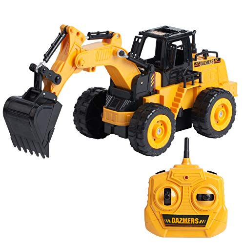 Build Me RC Excavator Toy - Hours of Fun with Fully Functional Remote Control Construction Vehicles Digger Excavator Toys for Boys and Girls - Scoop, Load, Carry and Dump Sand, Dirt, Rocks, Beans