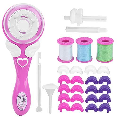 Juguete trenzador de pelo eléctrico, herramienta de peinado trenzadora automática de pelo DIY, máquina de trenzadora eléctrica para niñas pequeñas(Dispositivo de trenzado)