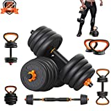 PINROYAL Adjustable Dumbbells Set,Weights Dumbbells Set - 66 Lbs Barbell Weight Set with Connecting Rod - Exercise & Fitness Dumbbells - CIdeal for Dumbbells, Barbells,Push Ups,Kettlebells