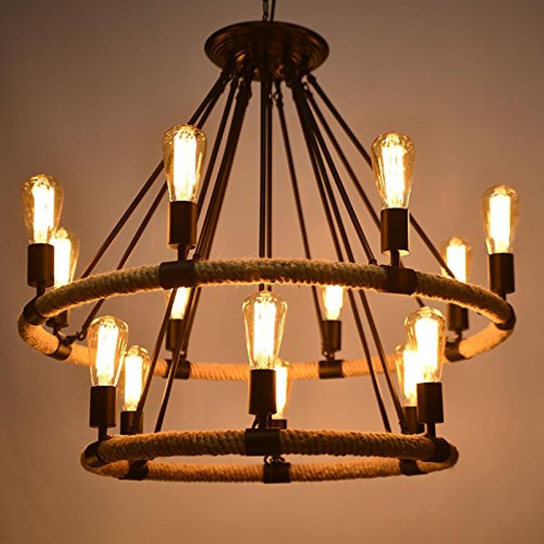 TIANLIANG04 lustres Les lustres en sisal off loft restaurant Café Lampes Décoratives, seule couche 4 diamètre de tête 40cm