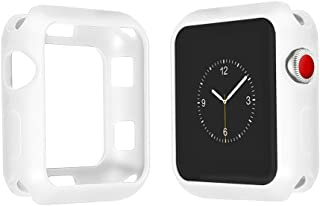 top4cus Environmental Soft Flexible TPU Anti-Scratch Lightweight Protective 40mm Iwatch Case Compatible Apple Watch Series 4 Series 3 Series 2 Series 1 Matte Style - White