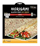 Norigami Egg Wraps Soy Protein - High Protein,Low Carb,Vegetarian Thin Healthy Wrap for Sandwiches - Ready To Fill And Serve - Certified Kosher,Non GMO,Gluten Free - 6 Wraps Soy Wrap Chili (2 Packs)