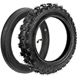 HIAORS 2.50x10' Tyre 2.5-10 Tire and Inner Tube with Bent Valve Stem for XR50 CRF50 PW50 SDG107 Razor SX500 Off Road Motorcycle Coolster SSR 50cc 70cc 90cc 110cc Mini Dirt Pit Bike