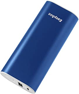 EasyAcc Metal 6400mAh (2.4A Output & 2A Input) Mini Portable Power Bank External Battery Pack Portable Charger for iPhone Samsung Smartphones - Mazarine Blue