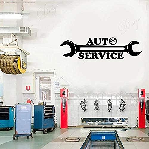 FEICHANG Adhesivo decorativo para pared, diseño de logotipo de reparación de autobuses, 57 x 15 cm