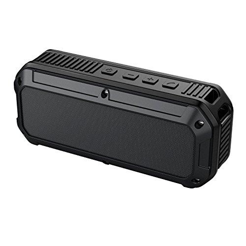 AUKEY Bluetooth Lautsprecher Tragbar IP64 Waterproof, 16 Stunden Spielzeit, Dual Treiber und eingebautem Mikrofon, Wireless Speaker bluetooth 4.0