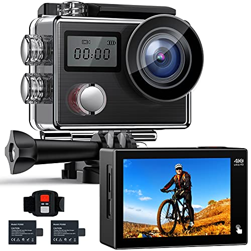 【Upgrade】 Action Camera Native 4K ACTMAN X20C Ultra HD 20MP Waterproof Camera with EIS Support...