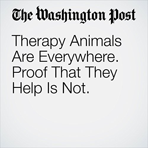 Therapy Animals Are Everywhere. Proof That They Help Is Not. copertina