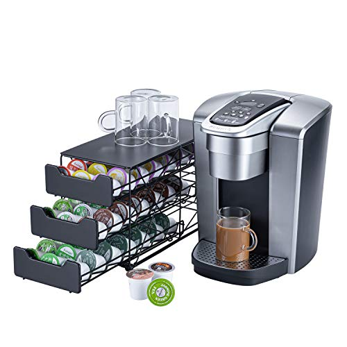 Rice rat k cup Holders for Counter Small for Keurig k-cup Holder for mr Coffee for Tea (63 pods-3 tiers)