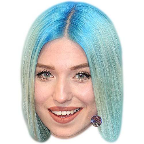 Celebrity Cutouts Bianca Heinicke (Blue) Maske aus Karton