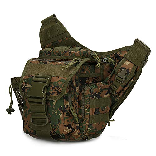 LIAWEI 20L Tactical Messenger Bag, 800D Oxford Shoulder Bag Messenger Backpack, Outdoor Tactical Handbag, Casual Shoulder Bag, Unisex, Suitable for Outdoor Work, Travel, Camping, Cycling