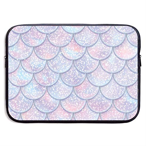 Glitter Fish Scales Mermaid Tail Laptop Sleeve Bag Case,Laptop Briefcase Soft Carring Tablet Travel Case,13 inch