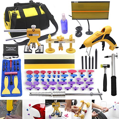 Anyyion 98pcs Paintless Dent Repair Kits,Car Body Dent Repair Tools Hail dent Removal Kit for Car Hail Damage Dent & Ding Remover(Full Set Starter Set Kits)