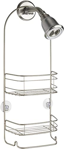 InterDesign Rondo Hanging Shower Caddy - Bathroom Storage Shelves for Shampoo, Conditioner and Soap, Satin product image