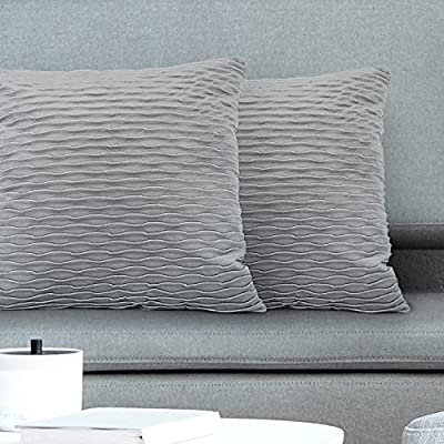 Amazon - 60% Off on Pack of 2 Throw Pillow Covers, 18×18 Inch Soft Velvet Decorative Square