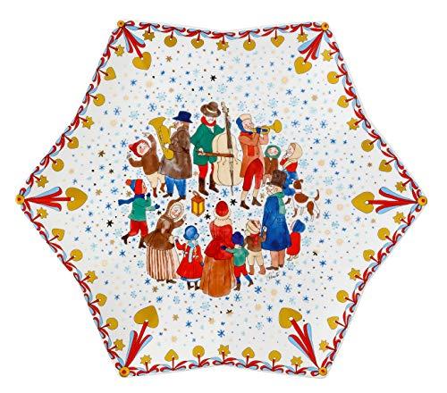 Hutschenreuther 02473-727312-25384 Weihnachtsmarkt 34 cm Sternschale, Porzellan
