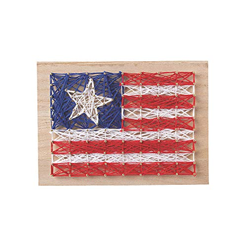 Fun Express - Patriotic String Art ck for Fourth of July - Craft Kits - Adult General Craft Kits -...