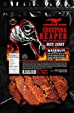 "JURASSIC JERKY'S ""CREEPING REAPER"" Carolina Reaper Beef Jerky (1)-3oz Bag The Reaper is the HOTTEST Pepper in the world! Sweet with Heat~"