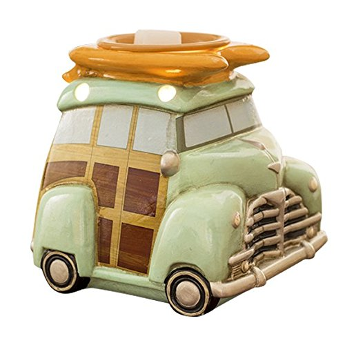 Scentsationals Retro Collection - Surf Woody Wagon - Scented Wax Warmer - Vintage Beach Car Wax Cube Melter & Burner - Electric Fragrance Home Air Freshener Gift