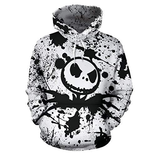 The Nightmare Before Christmas Jack & Sally Skellington Halloween Cosplay Hooded Sweatshirt