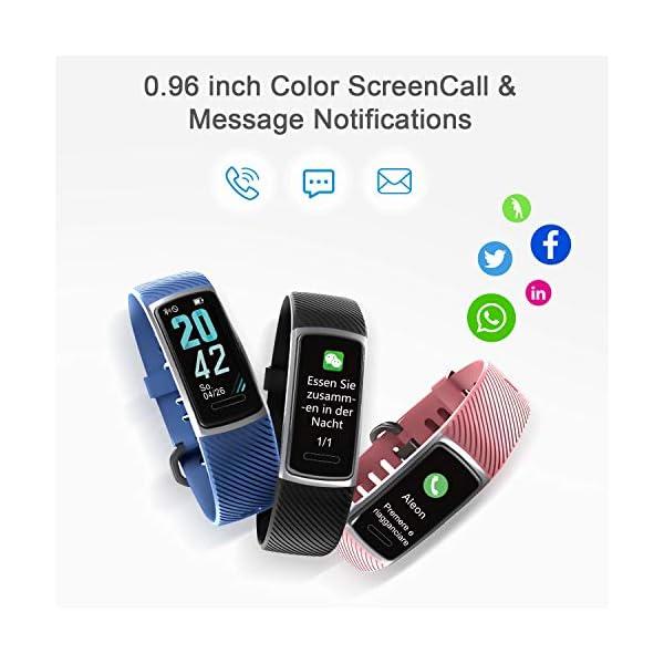 LETSCOM High End Fitness Trackers HR, IP68 Reloj de fitness impermeable con monitor de ritmo cardíaco, contador de pasos… 5