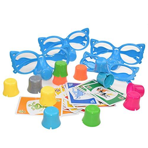 ZHURGN Party-Spiele, Familienspaß Lügner Spiel, Fibber-Brettspiel, lustige Gläser und Karten Wachsen Nasenfamilienspiele Dehnen Sie die Wahrheit, interaktive Spielzeuge für Kinder Erwachsene