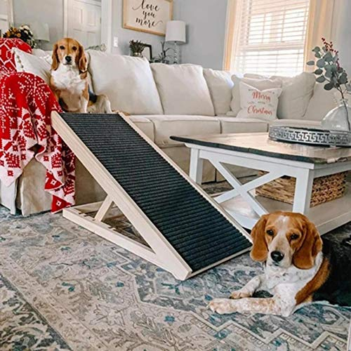 Heavy Duty Portable Folding Dog Ramps for Large Dogs SUV, Truck Car Ramp Stairs Step Ladder for Pet, Non-Slip Design for Pool Boat,US Shipping (Multicolor)