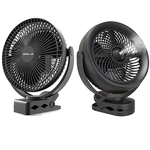 10000mAh Rechargeable Portable Fan, 8-Inch Battery Operated Clip on Fan 10000mAh Battery Operated Misting Fan with Clip, 8-Inch USB Fan for Desk,