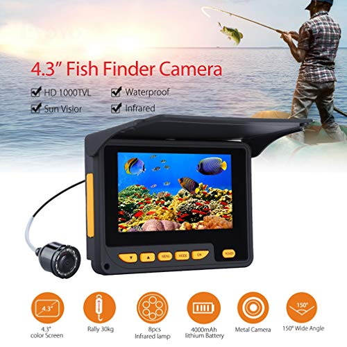 PLANT Portable Fish Finder, Unterwasser-Drohne 30M Unterwasserkamera zum Angeln 4,3