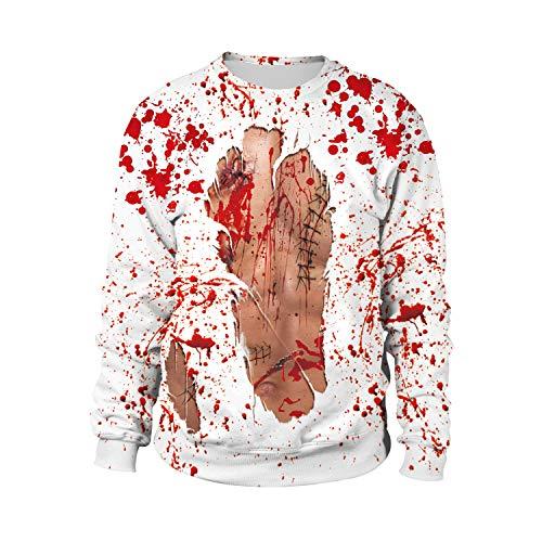 URVIP Unisex 3D Funny Halloween Print Long Sleeve Sweatshirts Hoodies WB102-013 XL