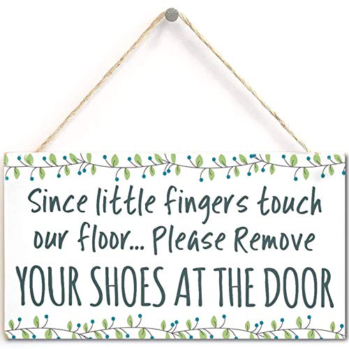 None/Brand Since Little Fingers Touch Our Floor… Please Remove Your Shoes at The Door - Cute Little Sign for Hallway