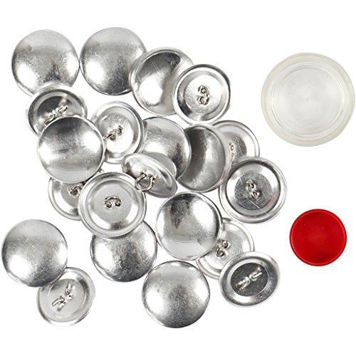Bottoni rivestiti fai da te, diametro 22 mm, 12 pezzi
