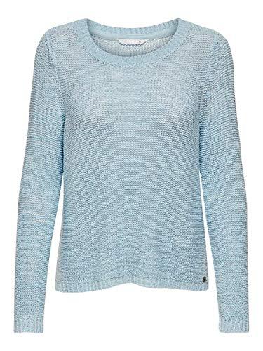 ONLY Onlgeena Xo L/s Pullover Knt Noos, Felpa Donna, Blu (Cashmere Blue Cashmere Blue), 34 (Taglia Produttore: X-Small)