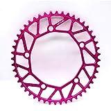 Litepro折りたたみ自転車フルホロー自転車チェーンホイール48/50/52/54/56 / 58TチェーンリングBCD130超軽量の正の歯のディスク (ローズレッド, 48T)