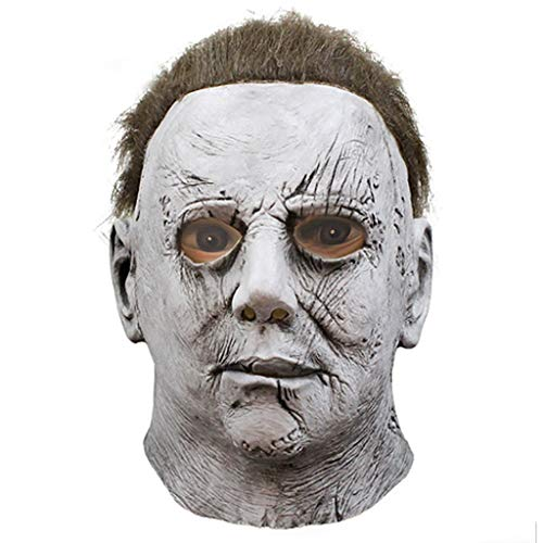 LGP Máscara de Michael Myers Halloween Cosplay Horror Thriller Máscara de Cara Completa Scary Movie Character Adultos Cosplay Disfraz Atrezzo Juguete