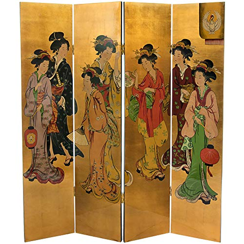 For Sale! Handmade Wood Golden Lacquered Screen Gold Oriental Hand Painted