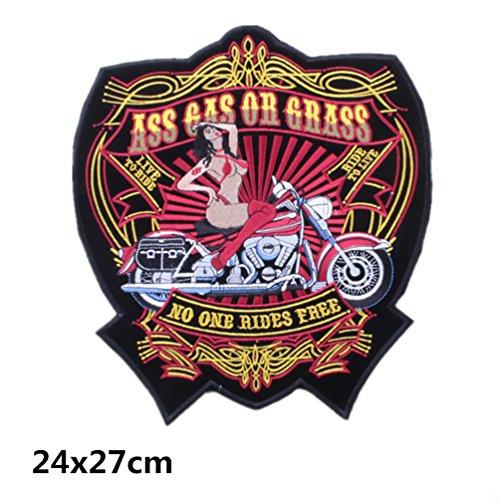 Bella Parches Apliques Sticker Parche Termoadhesivo No One Rides Free Bordado Motocicleta...