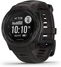 Garmin 010-02064-00 Instinct, Rugged Outdoor Watch with GPS, Features GLONASS and Galileo, Heart Rate Monitoring and 3-axis Compass, 1.27