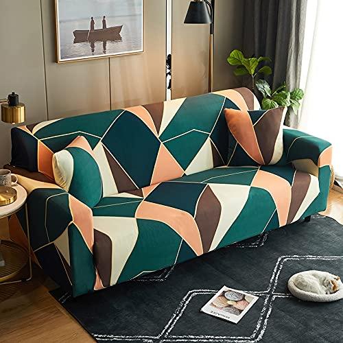 Funda de sofá con Estampado de Cuadros Antipolvo Funda de sofá Lisa de algodón Fundas de Muebles con Todo Incluido Funda seccional en Forma de L A24 2 plazas