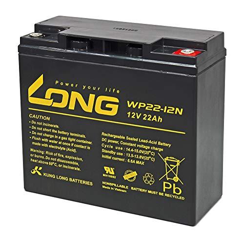 Blei Akku WP22-12N 22Ah 12V AGM Batterie ersetzt 17Ah 18Ah 19Ah 20Ah 23Ah Long M6 Innengewinde Akkuman.de Edition