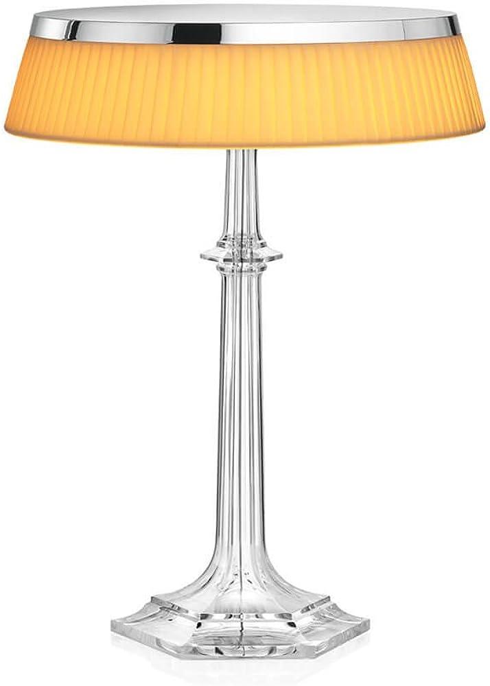 Flos bon jour versailles lampada da tavolo con struttura cromo e paralume tessuto F1041057-F1033007