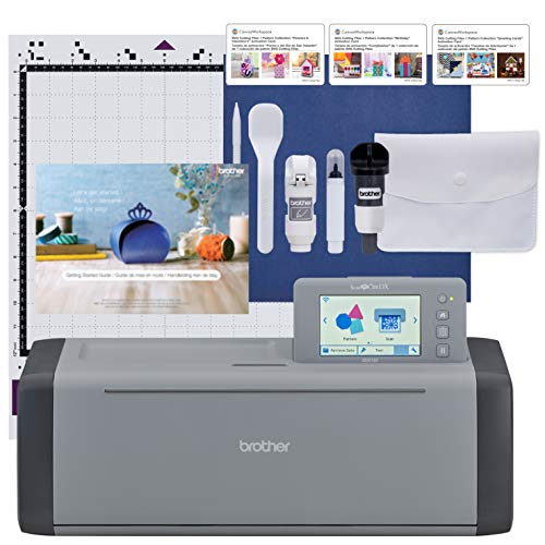 Brother ScanNCut SDX125EGY Electronic DIY Cutting Machine with Scanner, Make Custom Stickers, Vinyl Wall Art, Greeting Cards and More with 682...