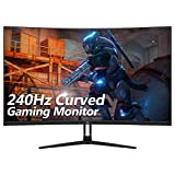Z-Edge UG32P 32-inch Curved Gaming Monitor 16:9 1920x1080 240Hz 1ms Frameless LED Gaming Monitor, AMD Freesync Premium Display Port HDMI Build-in Speakers