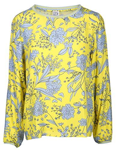 Emily van den Bergh Damen Bluse mit U-Boot Ausschnitt Größe 42 EU Gelb (gelb)