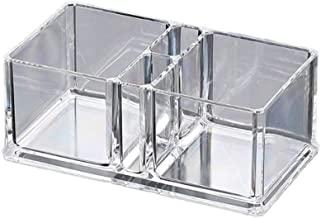 Yllang Doorzichtig acryl Cocktail SERVETHOUDER Tissue Box Papieren servet Dispenser Bar Caddy Rietjes Organizer (Color : ...