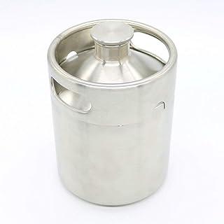 BEESS ホームブリュー 2L ミニ樽 ステンレススティル ビールバー グロウラー ワインポット スクリューキャップ