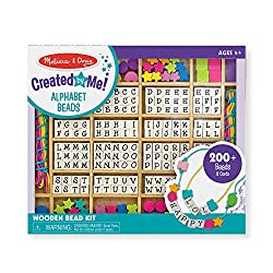 Best Toys for 5 Year Old Girls-Melissa & Doug Deluxe Wooden Stringing Beads