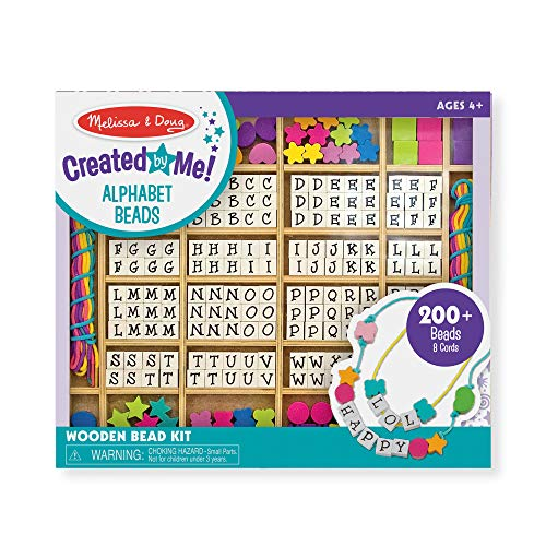 Melissa & Doug Created by Me Alphabet Beads Wooden Bead Kit