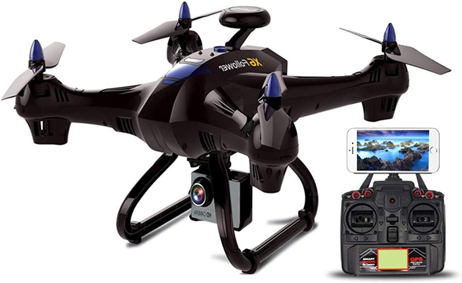 HUAXING Drone With Camera, E58 WIFI FPV Quadcopter With 2MP 720P Wide Angle Camera Live Video Mobile APP Control Foldable,720P